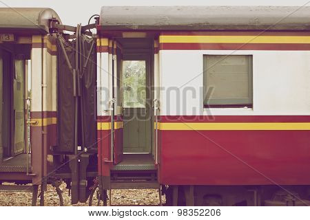 Bogie Of Train Connect Together In Vintage Style