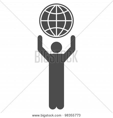 Globalist icon from Business Bicolor Set