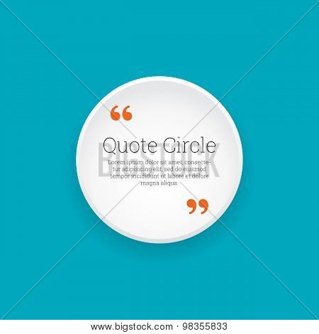 Quote Glossy Circle