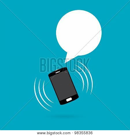 Ringing Phone With Talk Balloon