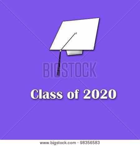 Class of 2020 White on Purple Single Large