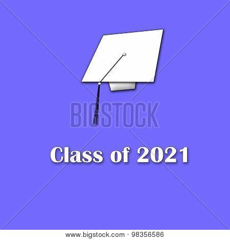Class of 2021 White on Purple Single Large