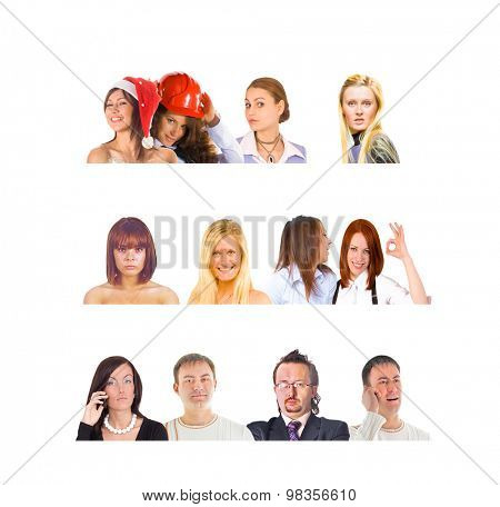 Faces Compilation Team over White