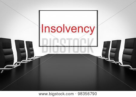 Conference Room With Whiteboard Insolvency