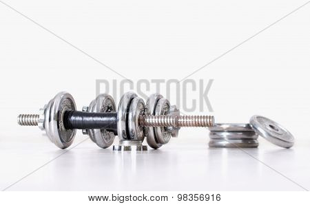 Dumbbells With Extra Weight Plates
