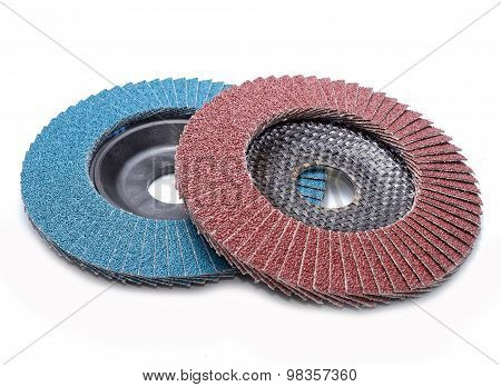 Abrasive wheels isolated on white background