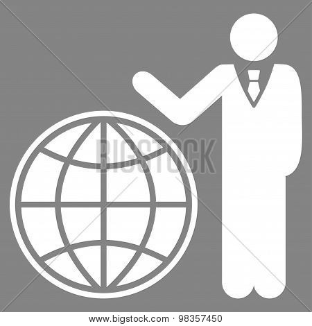 Planetary Flat Icon From Business Bicolor Set