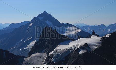 Beautiful Shaped High Mountains Seen From Mt Titlis