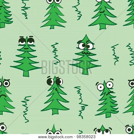 Emotional seamless fir-trees