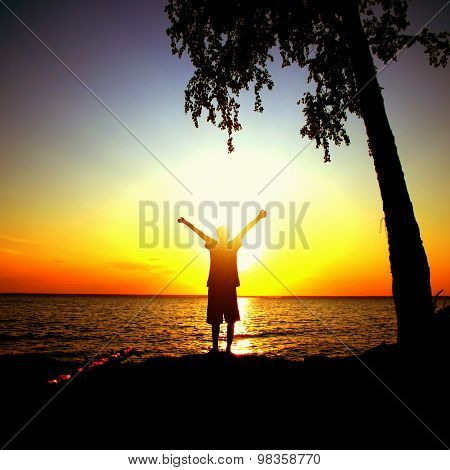 Person At Sunset