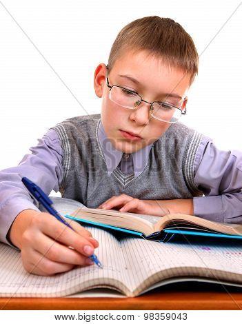 Kid On The School Desk