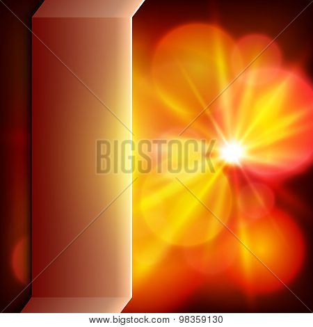 Dark Red Background Bright Sun Burst Presentation Template