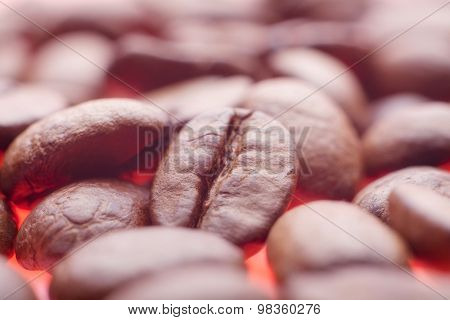 beautiful background with coffee beans. close
