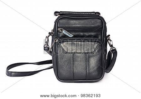 Man's Leather Black Bag