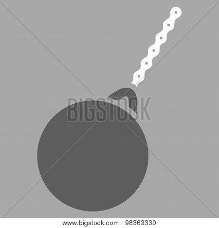 Destruction Hammer Flat Icon From Business Bicolor Set