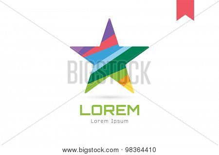 Star vector logo icon. Leader, boss, winner, rank or competition and shine symbol. Stock design element