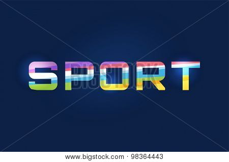 Sport vector logo text. Leader, winner, football, flag or another game and sport symbol. Stock design element