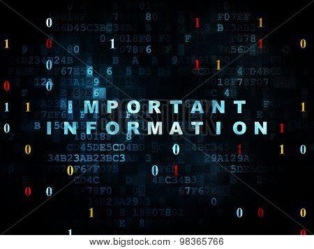 Information concept: Important Information on Digital background