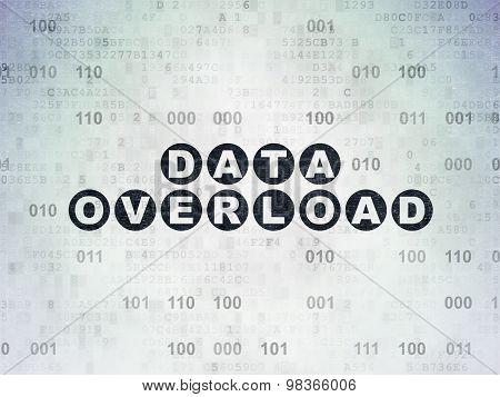 Information concept: Data Overload on Digital Paper background