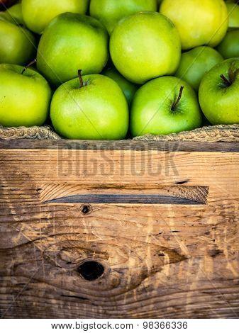 Organic Apples At A Market