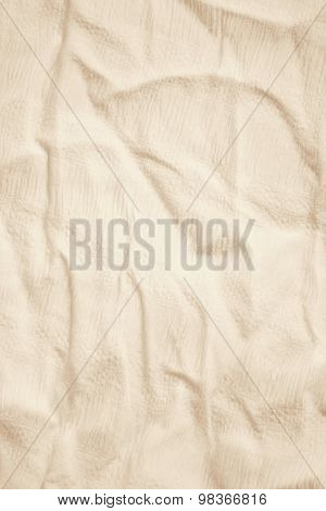 Beige Linen Fabric As Background. In Sepia Toned. Retro Style