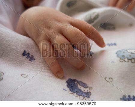 Sleeping Baby Hand