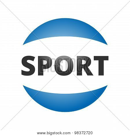 Abstract round sport logo