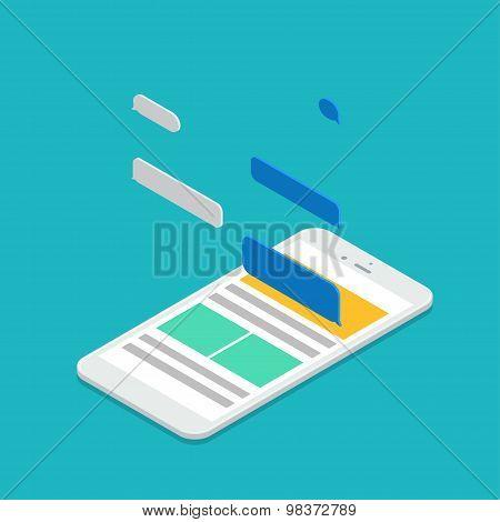 Vector modern isometric smartphone