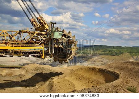Extraction Of Soil And Excavator