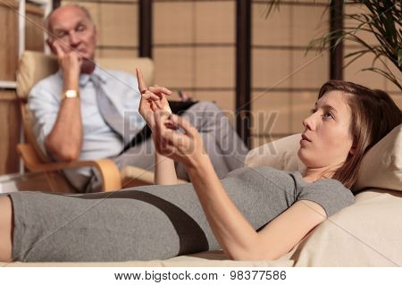 Psychiatrist Analysing Behaviour Of Patient