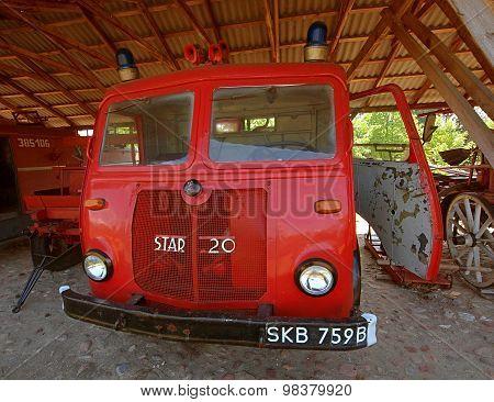 Retro vehicle fire.