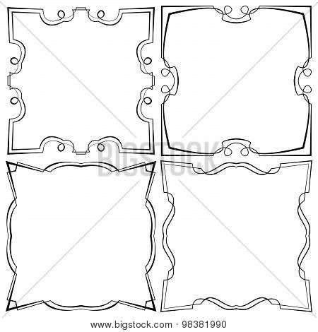 Vector Set Of Four Beautiful Framework