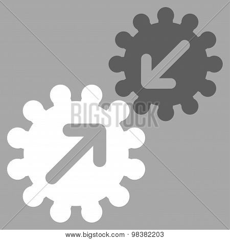 Integration Flat Icon From Business Bicolor Set