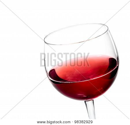 Red Wine In The Glass Isolated