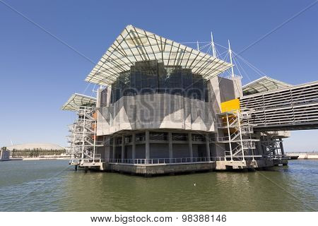 LISBON, PORTUGAL - July 27: The Lisbon Oceanarium on July 27, 2015 in Lisbon, Portugal