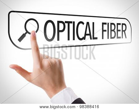 Optical Fiber written in search bar on virtual screen