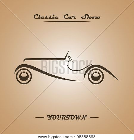 Classic car show poster concept .