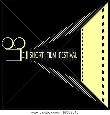 Short film festival, cinema film festival poster template.
