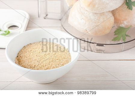 homemade breadcrumbs with spices and herbs