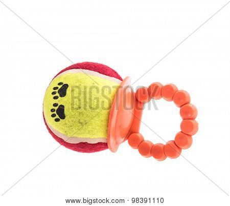 Pet Toy on White Background