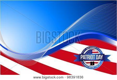 Us Patriot Day Sign Illustration Design