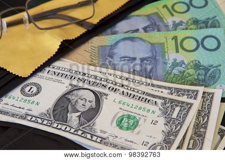 Travel Wallet and Dollars