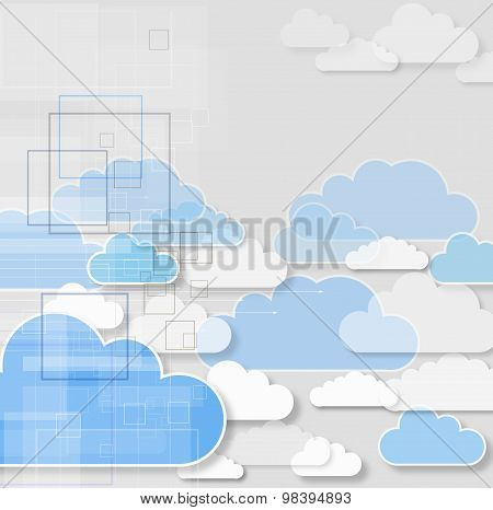 Concept of cloud computing.