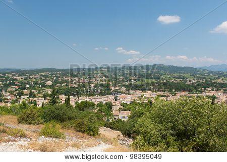 landscape Vaison-La-Romaine in French Drome