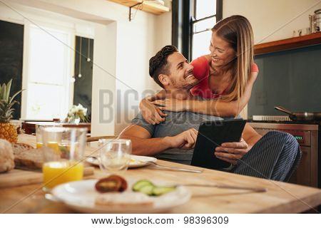 Loving Young Couple In Morning