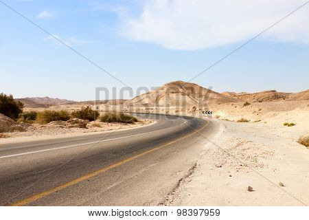 Empty Road In A Mountains