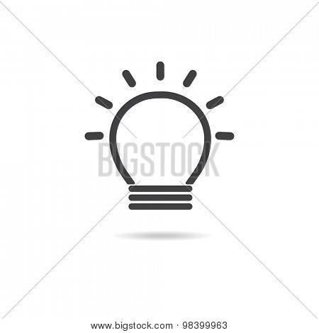 Light bulb logo.