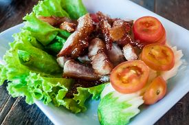 foto of cubit  - grilled pork neck food on the thailand - JPG