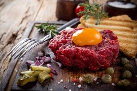 image of tartar  - Close up of beef tartar - JPG