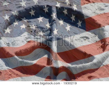 Peace Sand Flag